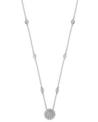 Effy White Gold 5/8 ct. t.w. Diamond Cluster Pendant Necklace in 14k White Gold