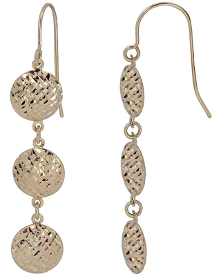 14K Gold Drop Earrings, One Size , No Color Family