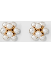 Simulated Pearl Stud Earrings - A New Day Gold