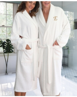Linum Home Personalized 100% Turkish Cotton Terry Bath Robe Bedding