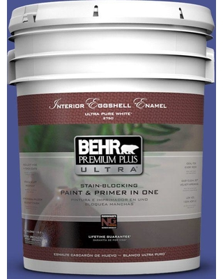 BEHR Premium Plus Ultra 5 gal. #P540-7 Canyon Iris Eggshell Enamel Interior Paint and Primer in One