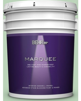BEHR MARQUEE 5 gal. #M400-3 Bok Choy Eggshell Enamel Interior Paint and Primer in One
