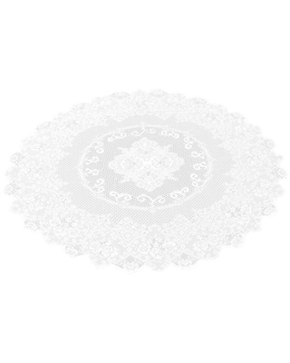 "59"" Round Lace Tablecloth Elegant Floral Table Cloth For Birthday Wedding Party"