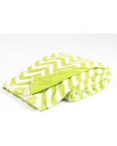 Tadpoles Chevron Printed Plush Microfiber Velour Baby Blanket bsbbcp008 / bsbbcp012 Color: Green