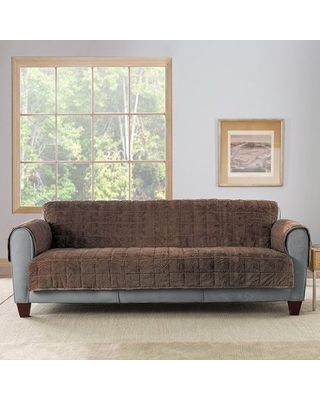 Sure Fit Faux Fur Quilted Loveseat Throw