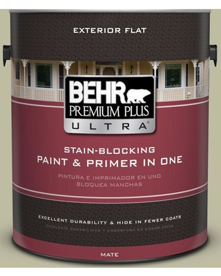 BEHR ULTRA 1 gal. #PPF-24 Garden Lattice Flat Exterior Paint and Primer in One