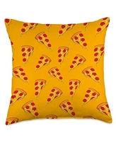 Pizza Playground Delicious Pizza Slice Pattern Throw Pillow, 18x18, Multicolor