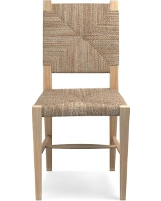 Rutherford Woven Rush Dining Side Chair, Light Oak