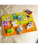 Pet Pals Chunky Puzzle - Baby Toys & Gifts for Ages 1 to 2 - Fat Brain Toys