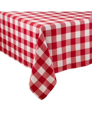 Saro Lifestyle Buffalo Plaid 70-Inch x 120-Inch Oblong Tablecloth in Red
