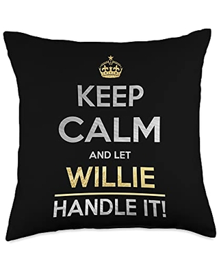Name Gifts By Qnz Keep Calm And Let Willie Handle It Throw Pillow, 18x18, Multicolor