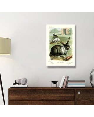 "East Urban Home 'The Rabbit 1900' Print on Wrapped Canvas ERNI7829 Size: 36"" H x 24"" W x 1.5"" D"