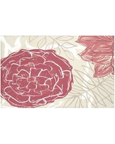 """e by design Flowers and Fronds Floral Print Throw Blanket HFN192 Size: 60"""" L x 50"""" W, Color: Brick (Rust/Coral)"""
