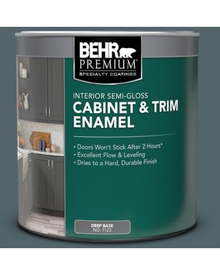 New Deal On Behr Premium 1 Qt N490 6 Calligraphy Semi Gloss Enamel Interior Cabinet And Trim Paint
