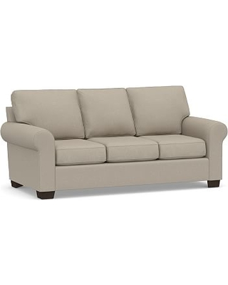 Buchanan Roll Arm Upholstered Deluxe Sleeper Sofa, Polyester Wrapped Cushions, Performance Brushed Basketweave Sand