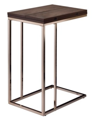 Expandable Top Accent Table Chestnut and Chrome