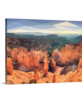 """GreatBigCanvas """"Bryce Canyon - Low-Poly Art""""by Circle Art Group Canvas Wall Art, Multi-Color"""