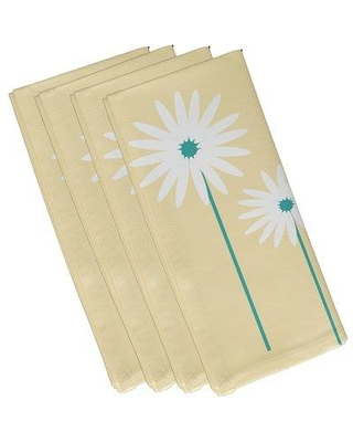 "e by design Daisy May Floral Napkin N4FN229 Size: 19""W x 19""L Color: Yellow"