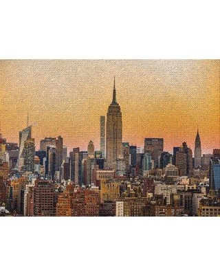 East Urban Home New York City Shots 76 Orange Area Rug W001129900 Rug Size: Rectangle 2' x 5'