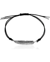 Effy Silver Feather Cord Bracelet in Sterling Silver