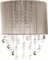 """Avenue Beverly Dr. 14"""" High Taupe Silk String Wall Sconce"""