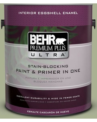 BEHR Premium Plus Ultra 1 gal. #PPU10-06 Spring Walk Eggshell Enamel Interior Paint and Primer in One