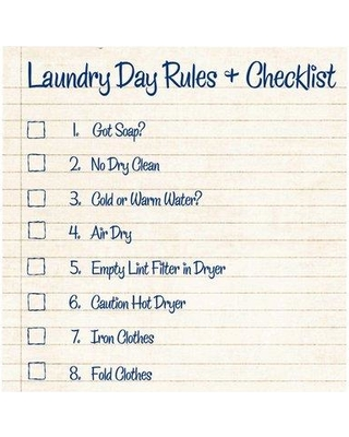 PTM Images Laundry Rules Framed Textual Art LaundryRules2