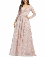 Mac Duggal Embroidered Gown - Rose Pink