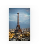 """Trademark Fine Art 'Eiffel Tower 5' Photographic Print on Wrapped Canvas ALI20599-C Size: 47"""" H x 30"""" W"""