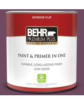 Find Deals On Behr Premium Plus 1 Qt S110 6 Plum Royale Flat Low Odor Interior Paint And Primer In One