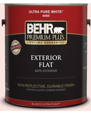 BEHR Premium Plus 1 gal. #170C-1 Berry Cheesecake Flat Exterior Paint and Primer in One