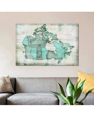 "East Urban Home 'Canada' Graphic Art Print on Canvas ETRB3551 Size: 40"" H x 60"" W x 1.5"" D"