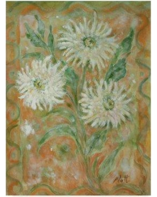 "World Menagerie 'Gold Daisies' Watercolor Painting Print on Wrapped Canvas WRME2765 Size: 47"" H x 35"" W x 2"" D"