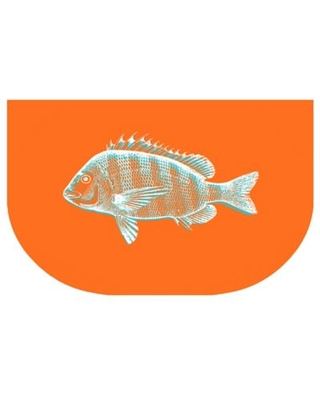 The Softer Side by Weather Guard® 24-Inch x 40-Inch Fish Kitchen Mat in Orange