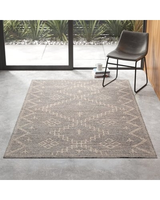 Shop Deals On Anders Geometric Handmade Tufted Gray Area Rug Rug Size Rectangle 7 6 X 9 6