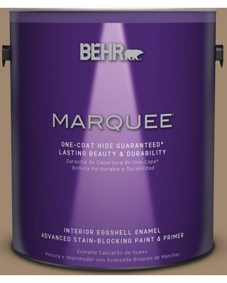 BEHR MARQUEE 1 gal. #700D-5 Toffee Crunch One-Coat Hide Eggshell Enamel Interior Paint and Primer in One