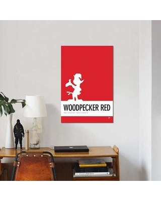 """East Urban Home Minimal Colorcode Poster Woody Woodpecker Print On Canvas EBHS2141 Size: 26"""" H x 18"""" W x 0.75"""" D"""
