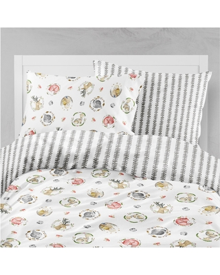 Oliver Gal Signature Collection Woodland Critters Duvet (Queen)
