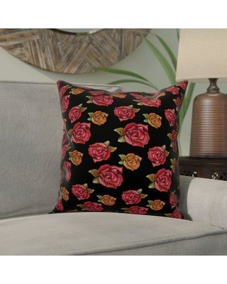 Great Prices For Winston Porter Magliana Rose Throw Pillow Polyester Polyfill Polyester Polyester Blend In Pink Size 18x18 Wayfair