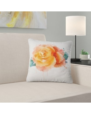 Floral Rose with Leaves Pillow