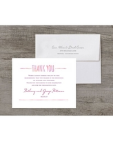 Watercolor Feather Deluxe Thank You Card
