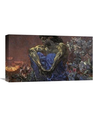 """Global Gallery 'Demon Seated' by Mihail Aleksandrovic Vrubel Painting Print on Wrapped Canvas GCS-281448-22-142 / GCS-281448-30-142 Size: 12.28"""" H x 22"""" W x 1.5"""" D"""