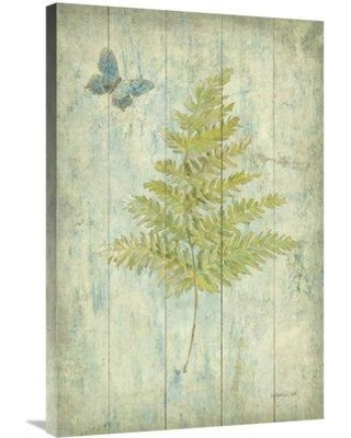 """East Urban Home 'Natural Floral XII Butterfly' Print ESUM9960 Size: 36"""" H x 24"""" W Format: Wrapped Canvas"""