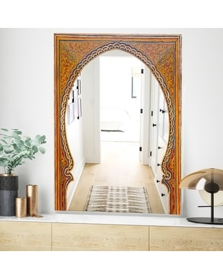 Designart 'Ancient Door Morroco' Traditional Mirror - Large Wall Mirror (23.7 in. wide x 31.5 in. high)