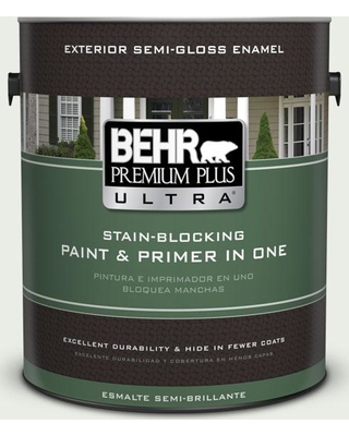 BEHR ULTRA 1 gal. #N410-1 Silence Semi-Gloss Enamel Exterior Paint and Primer in One