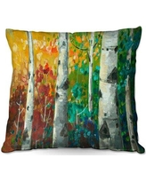 20 Off Ebern Designs Hermanson Couch Birch Trees Throw Pillow X111282521 Size 18 X 18