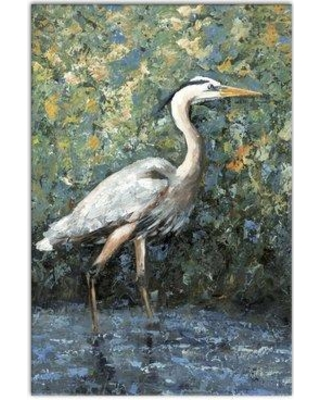 """Highland Dunes 'Heron' Framed Acrylic Painting Print on Canvas HLDS4116 Size: 36"""" H x 24"""" W Format: Wrapped Canvas"""