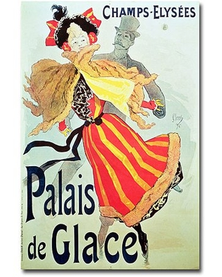 """Trademark Art """"Ice Palace, Champs Elysees, 1893"""" Canvas Wall Art by Jules Cheret"""
