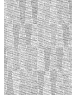 East Urban Home Abstract Wool Gray Area Rug X113616203 Rug Size: Round 4'