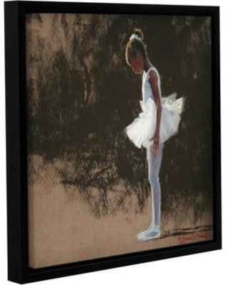 """Latitude Run Anticipation Framed Painting Print on Wrapped Canvas LTRN7299 Size: 24"""" H x 24"""" W x 2"""" D"""